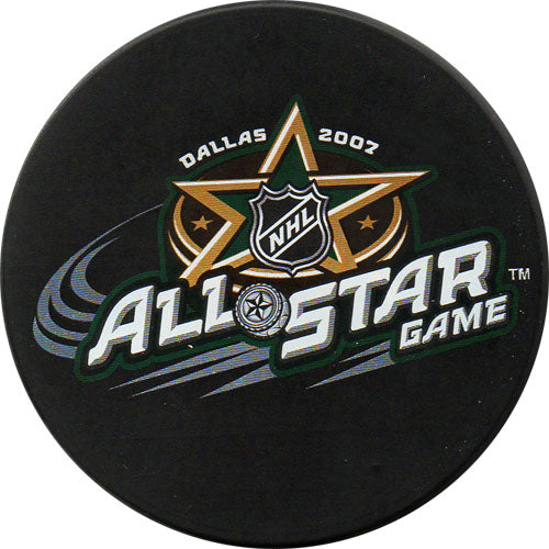 2007 All-Star Game Puck - Dallas