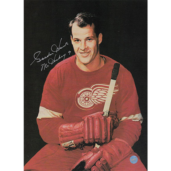 Gordie Howe Autographed 8X10.5 Photo (Red Wings Posed)