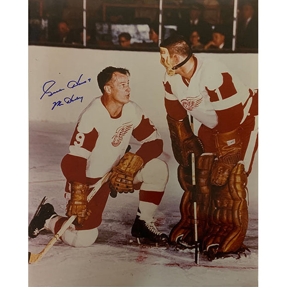 Gordie Howe Autographed 11X14 Photo (w/Terry Sawchuk)