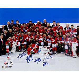 2014 Team Canada Olympic Autographed 16X20 Photo (5 Signatures)