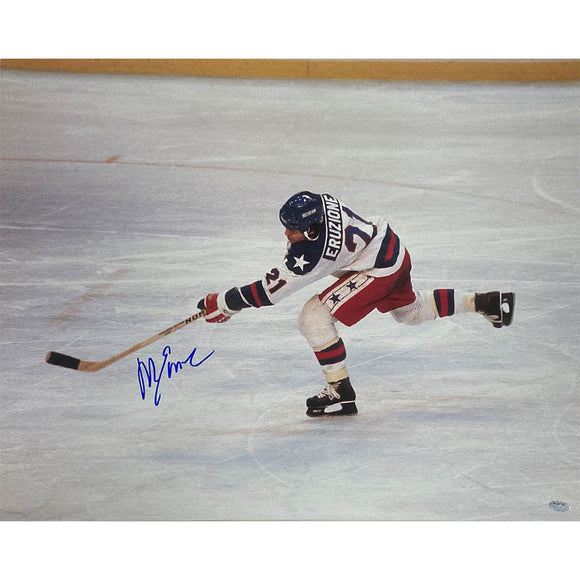 Mike Eruzione Autographed Team USA 16X20 Photo