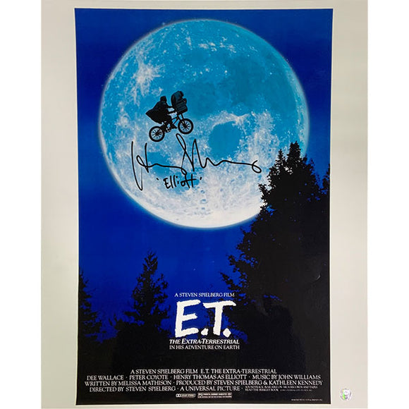 Henry Thomas Autographed E.T. 16X20 Movie Poster Photo