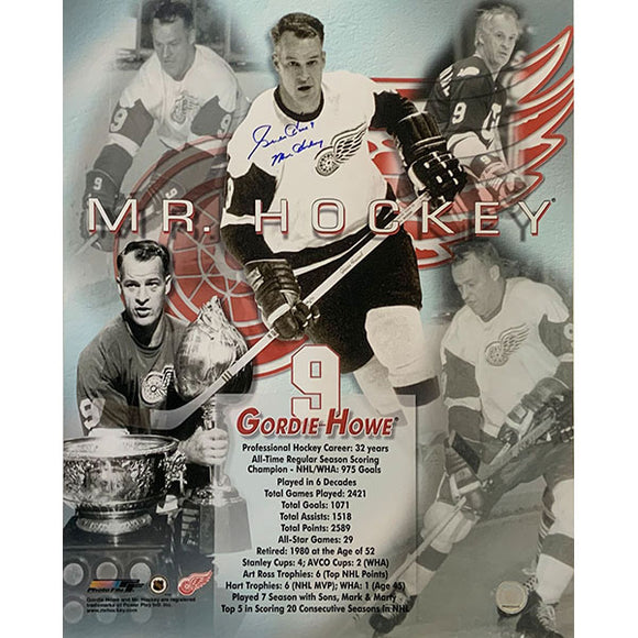 Gordie Howe Autographed 16X20 Photo (Collage)