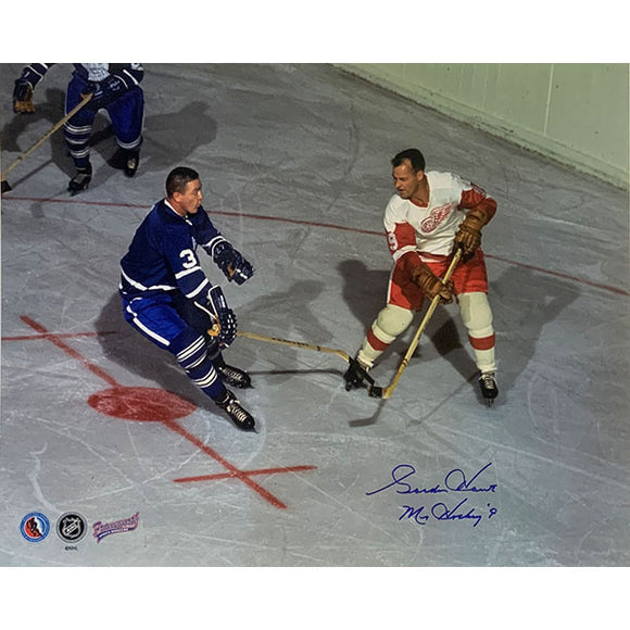 Gordie Howe Autographed 16X20 Photo (w/Marcel Pronovost)