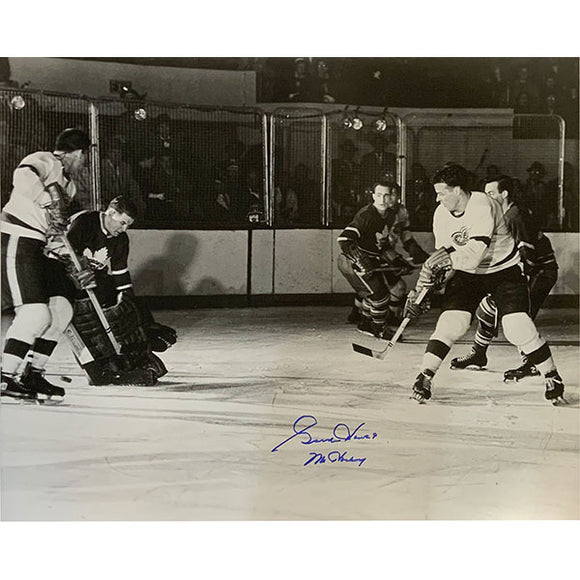 Gordie Howe Autographed 16X20 Photo (vs. Toronto)