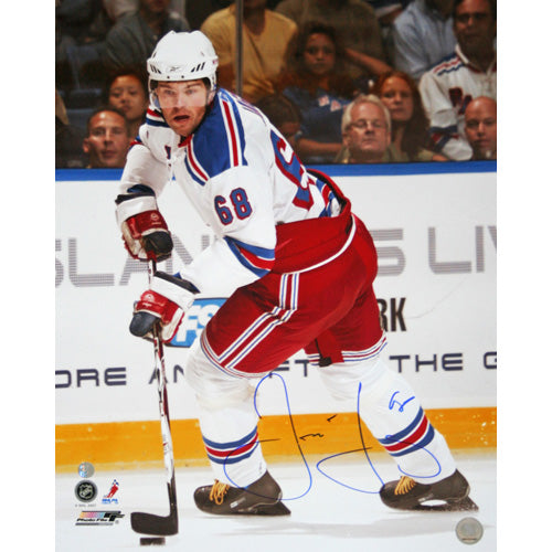 Jaromir Jagr Autographed New York Rangers 16X20 Photo