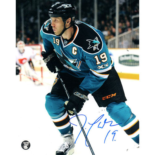 Joe Thornton Autographed San Jose Sharks 16X20 Photo (vs. Flames)