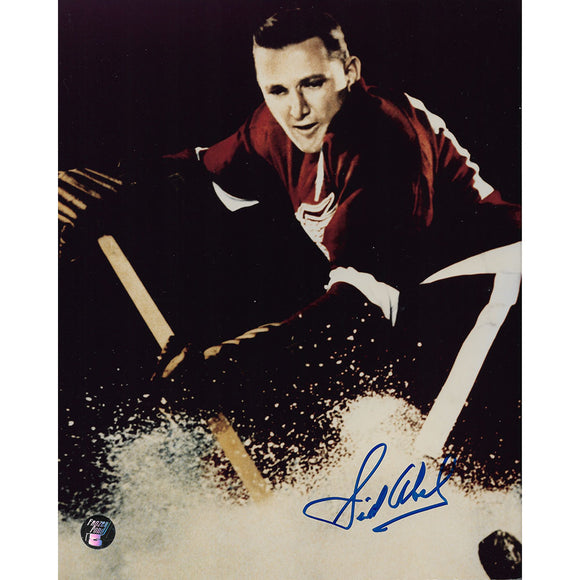 Sid Abel (deceased) Autographed Detroit Red Wings 8X10 Photo (Color)