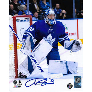 Frederik Andersen Autographed Toronto Maple Leafs 8X10 Photo