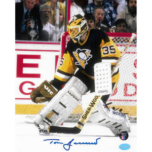 Tom Barrasso Autographed Pittsburgh Penguins 8X10 Photo