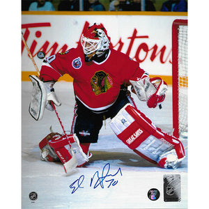 Ed Belfour Autographed Chicago Blackhawks 8X10 Photo