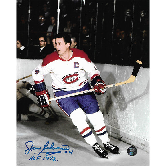 Jean Beliveau (deceased) Autographed Montreal Canadiens 8X10 Photo