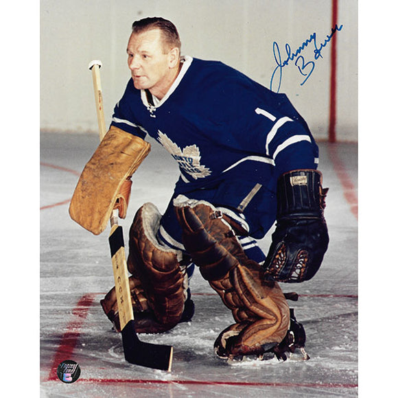 Johnny Bower (deceased) Autographed Toronto Maple Leafs 8X10 Photo