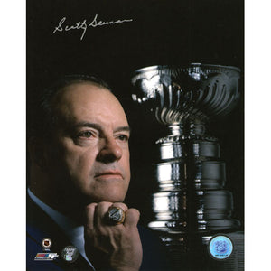 Scotty Bowman Autographed Detroit Red Wings 8X10 Photo (w/Ring)