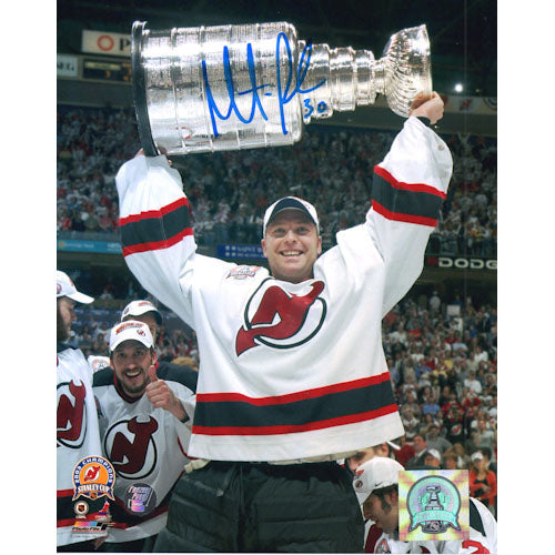 Martin Brodeur Autographed New Jersey Devils 8X10 Photo (w/Cup)