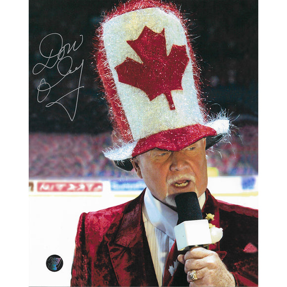 Don Cherry Autographed 8X10 Photo (Canada Hat)