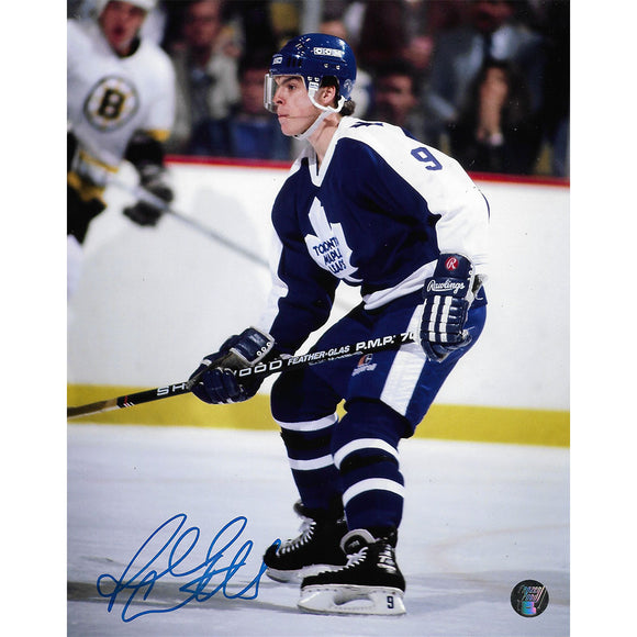 Russ Courtnall Autographed Toronto Maple Leafs 8X10 Photo