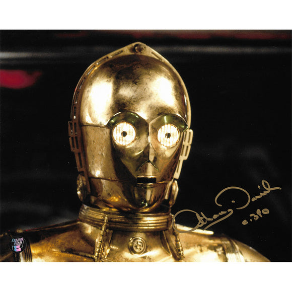 Anthony Daniels Autographed Star Wars 8X10 Photo (Close-Up)