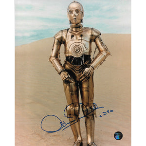 Anthony Daniels Autographed Star Wars 8X10 Photo