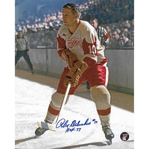 Alex Delvecchio Autographed Detroit Red Wings 8X10 Photo