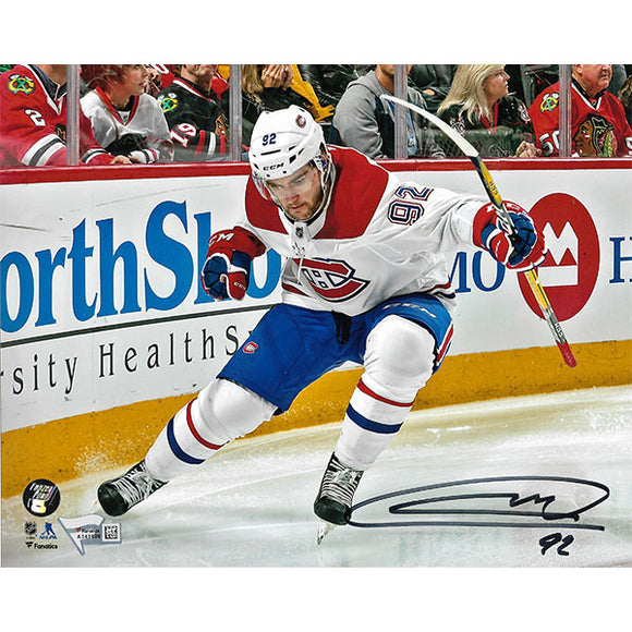 Jonathan Drouin Autographed Montreal Canadiens 8X10 Photo