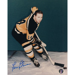 Fern Flaman (deceased) Autographed Boston Bruins 8X10 Photo