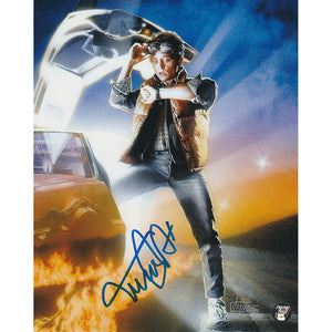 Michael J. Fox Autographed 'Back to the Future' 8X10 Photo