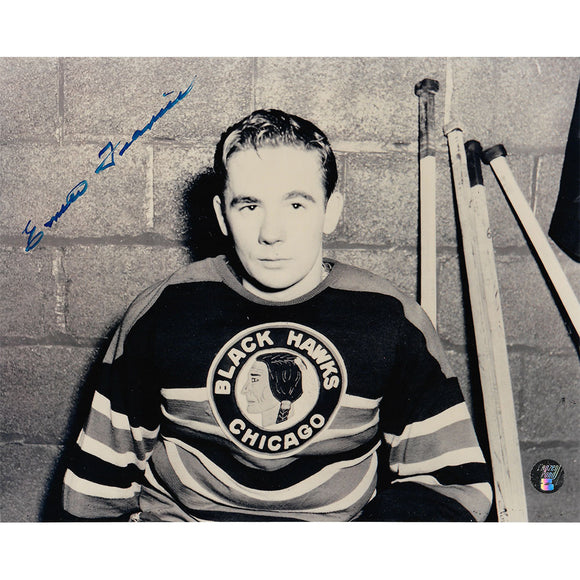 Emile Francis Autographed Chicago Blackhawks 8X10 Photo