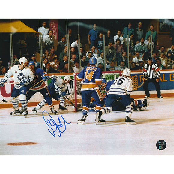 Doug Gilmour Autographed Toronto Maple Leafs 8X10 Photo (1993 Playoffs)