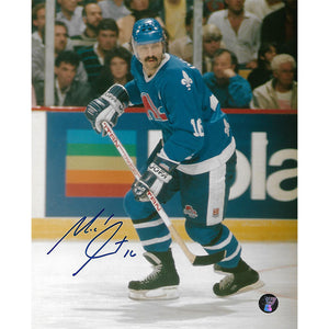 Michel Goulet Autographed Quebec Nordiques 8X10 Photo