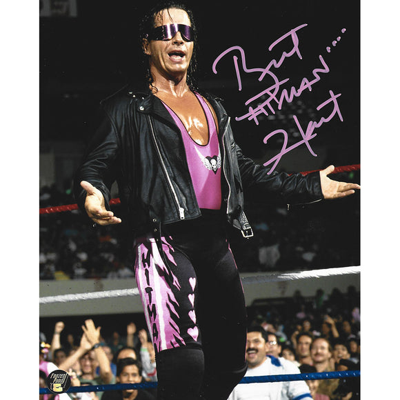 Bret Hart Autographed WWE 8X10 Photo