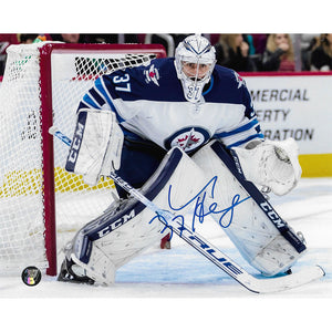 Connor Hellebuyck Autographed Winnipeg Jets 8X10 Photo