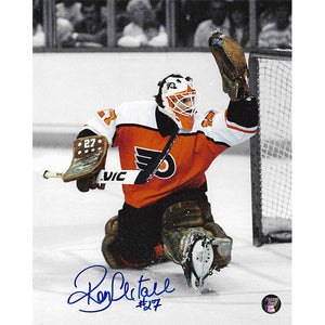 Ron Hextall Autographed Philadelphia Flyers 8X10 Photo (Glove Save)