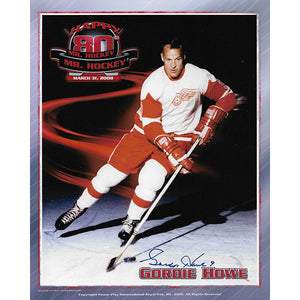 Gordie Howe Autographed 8X10 Photo (80th Birthday)