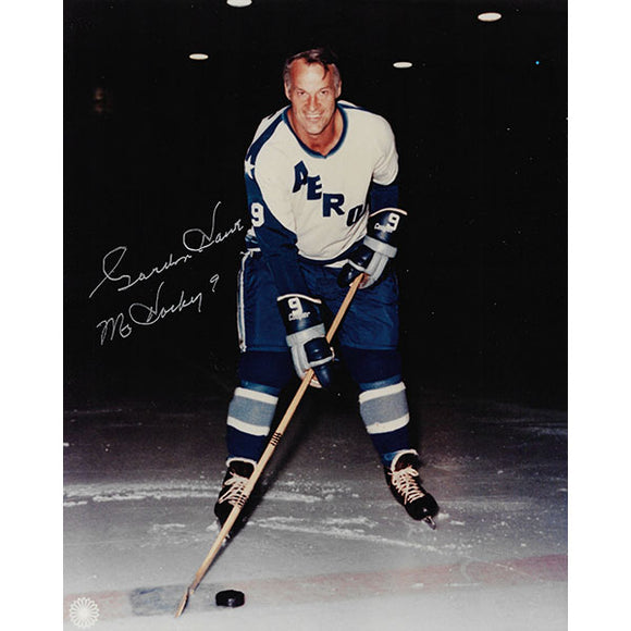 Gordie Howe Autographed 8X10 Photo (Houston Aeros)