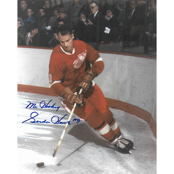 Gordie Howe Autographed 8X10 Photo (Boards)