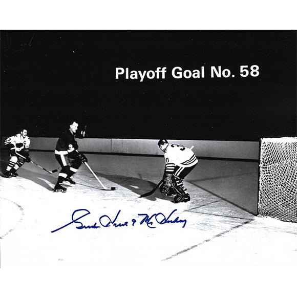 Gordie Howe Autographed 8X10 Photo (Playoff Goal No. 58)