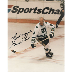 Gordie Howe Autographed 8X10 Photo (Whalers - SportsChannel)