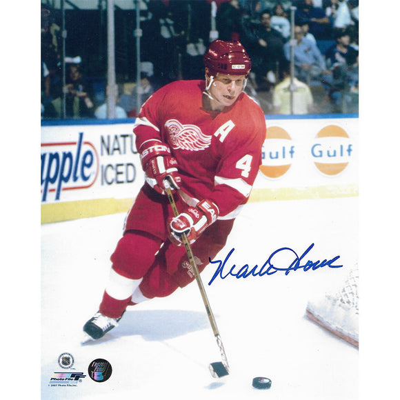 Mark Howe Autographed Detroit Red Wings 8X10 Photo
