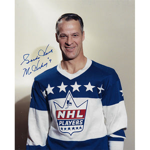 Gordie Howe Autographed Detroit Red Wings 8X10 Photo (NHL Players)