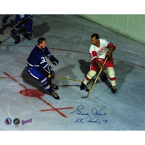 Gordie Howe Autographed 8X10 Photo (w/Marcel Pronovost)