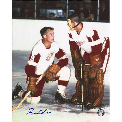 Gordie Howe (deceased) Autographed Detroit Red Wings 8X10 Photo (w/Sawchuk)