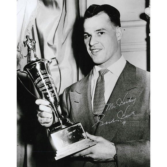 Gordie Howe Autographed 8X10 Photo (w/Sports Guild Trophy)