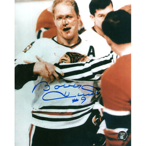 Bobby Hull Autographed Chicago Blackhawks 8X10 Photo (Bloody)