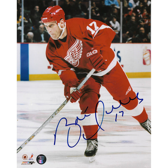 Brett Hull Autographed Detroit Red Wings 8X10 Photo