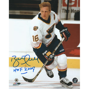 Brett Hull Autographed St. Louis Blues 8X10 Photo