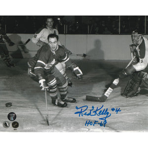 Red Kelly (deceased) Autographed Toronto Maple Leafs 8X10 Photo (vs. Montreal)