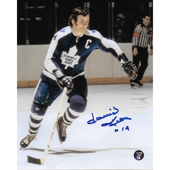 Dave Keon Autographed Toronto Maple Leafs 8X10 Photo (w/referee)