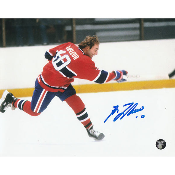 Guy Lafleur Autographed Montreal Canadiens 8X10 Photo (Slapshot)
