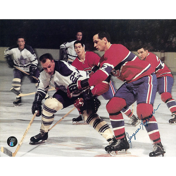 Jacques Laperriere Autographed Montreal Canadiens 8X10 Photo